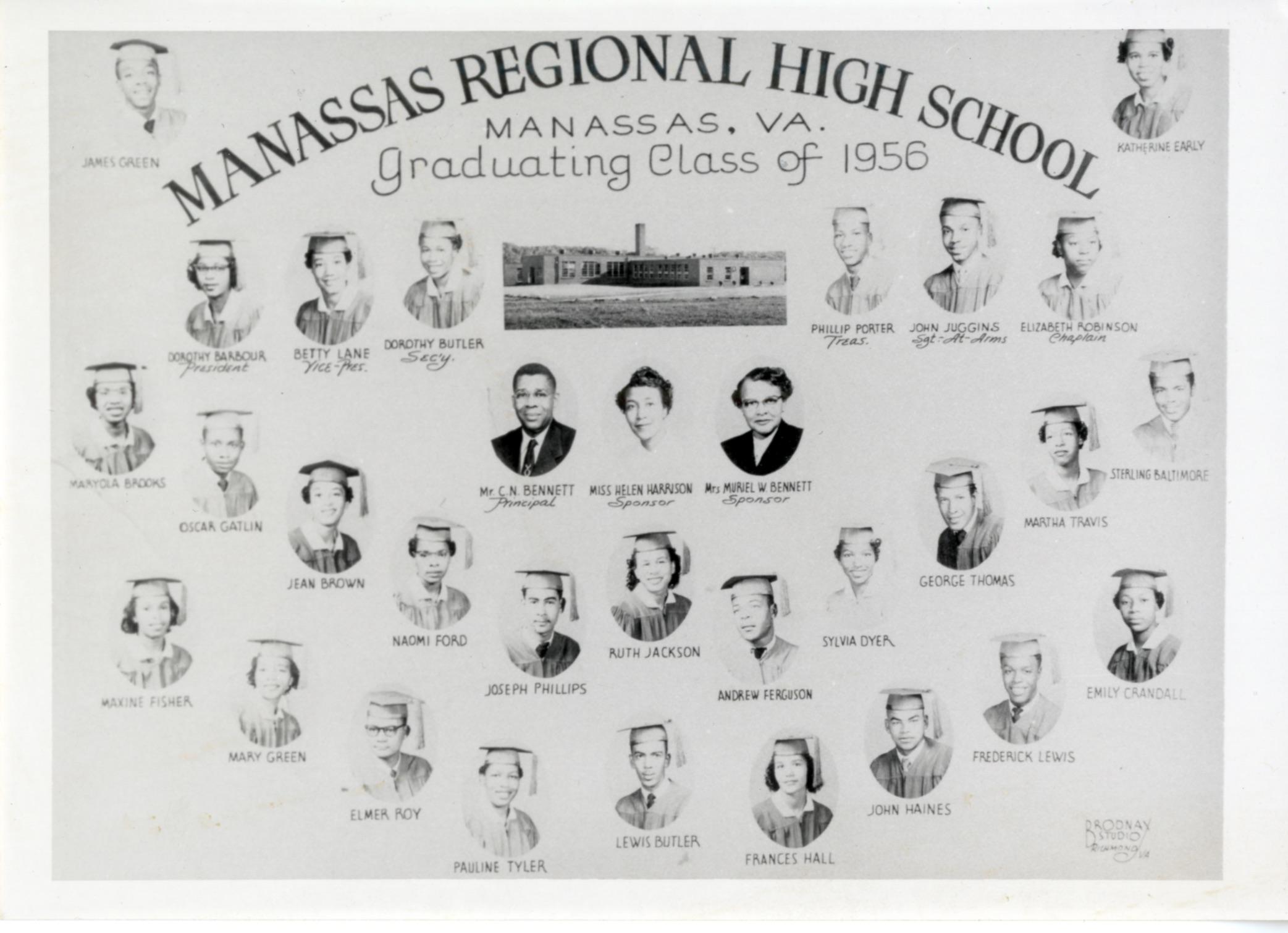 Manassas Regional HS - graduating class of 1956