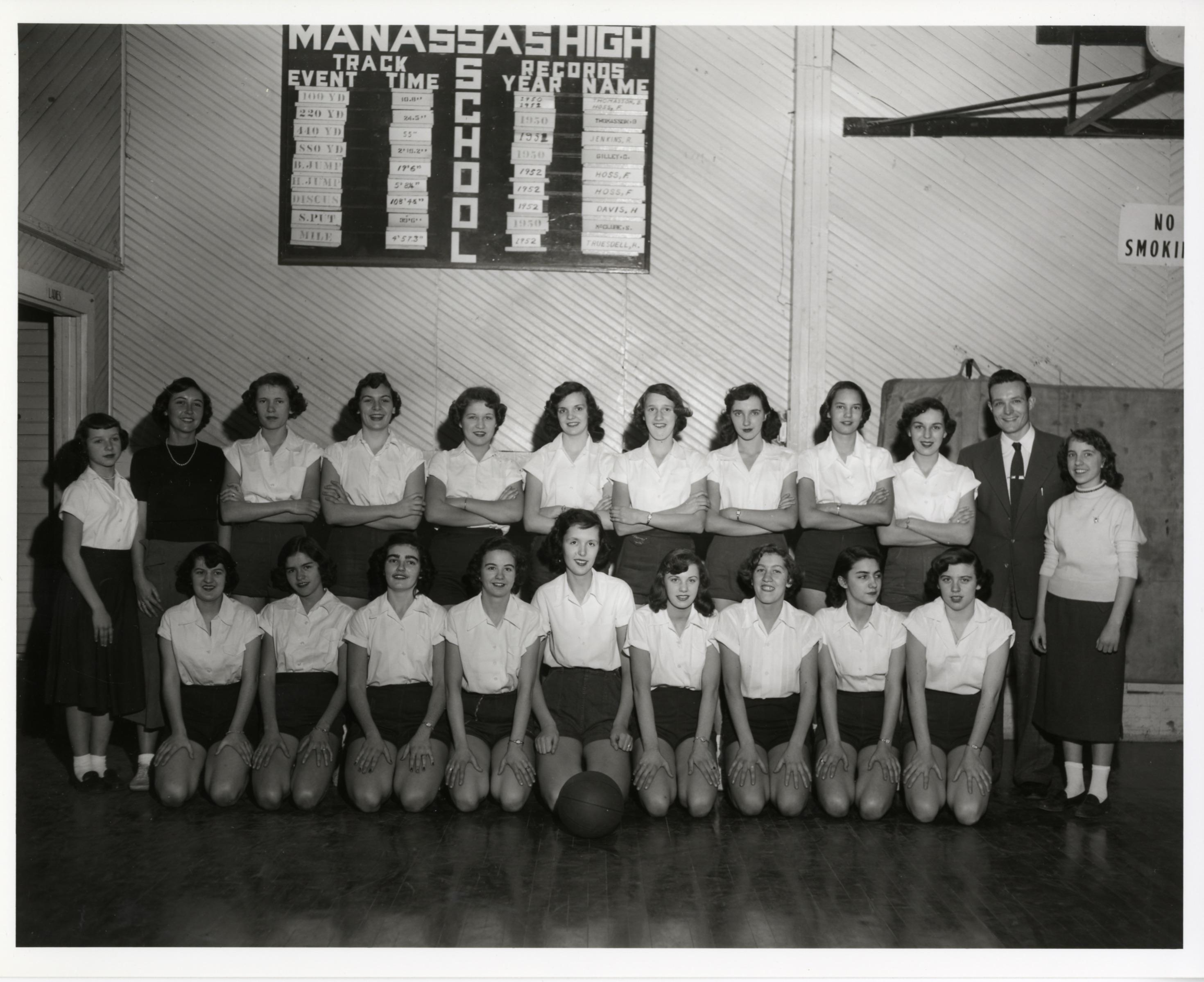 Osbourn HS girls basketball team