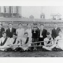 1912 Manassas HS track team and winning trophy